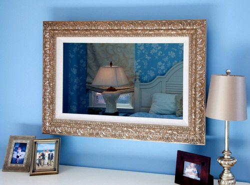 opticlear tv mirror hide a tv behind mirror tv over dresser