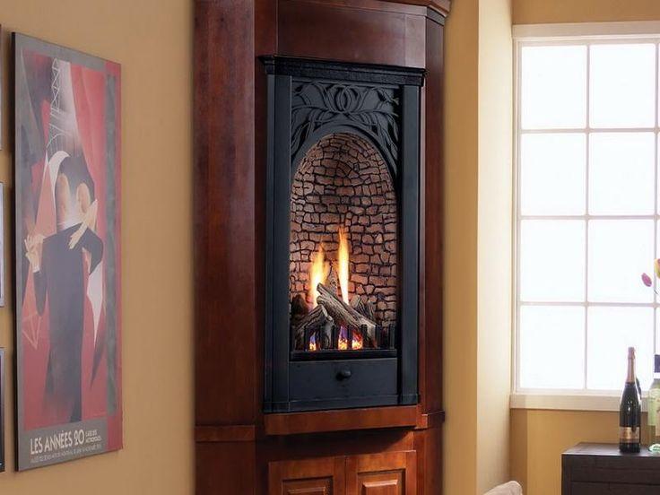 Pin by Leslie Schuder on Master Bedroom  Corner gas fireplace Gas fireplace Cabin fireplace