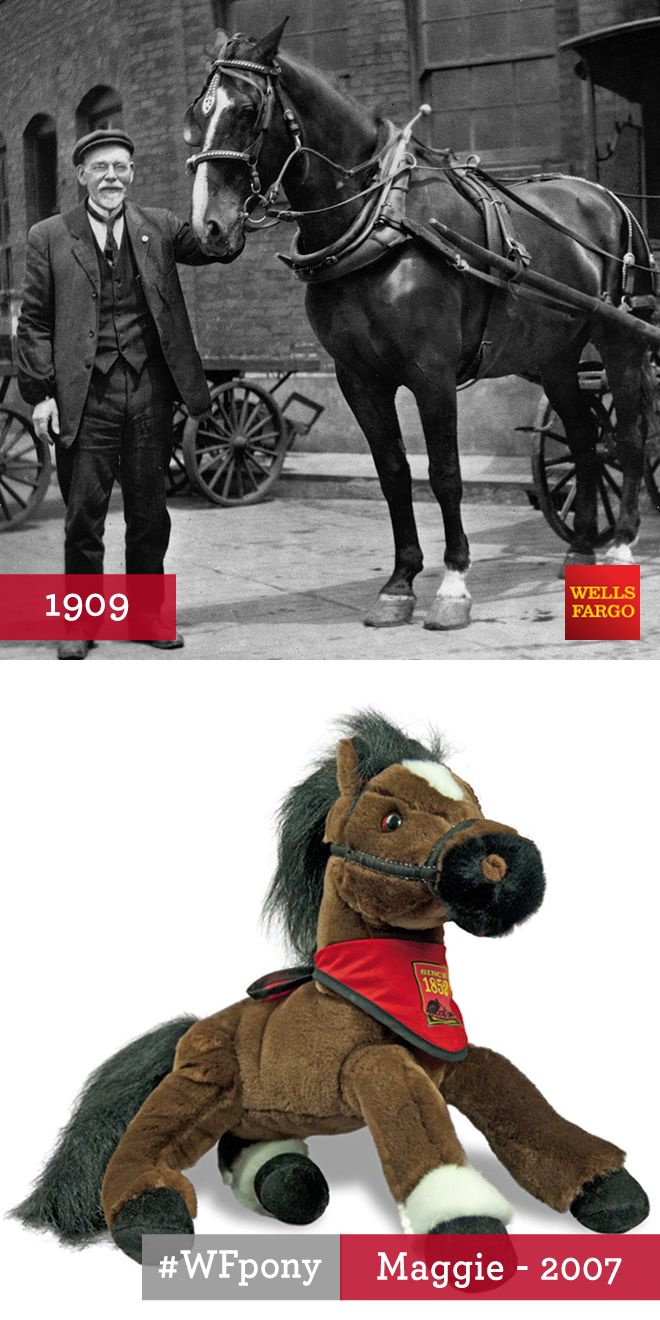 "In 1909, a beautiful mare named Maggie represented Wells Fargo in the first annual San Francisco Work Horse Parade. @sfspca organized the Parade to demonstrate that responsible treatment of animals paid dividends for businesses that depended upon them. At age 25, Maggie had worked for Wells Fargo for over 20 years. For the Work Horse Parade, Maggie was entered into the ""old horse"" class, along with another Wells Fargo horse, Menlo. ""Old class"" or not, Maggie was as strong as any younger…"
