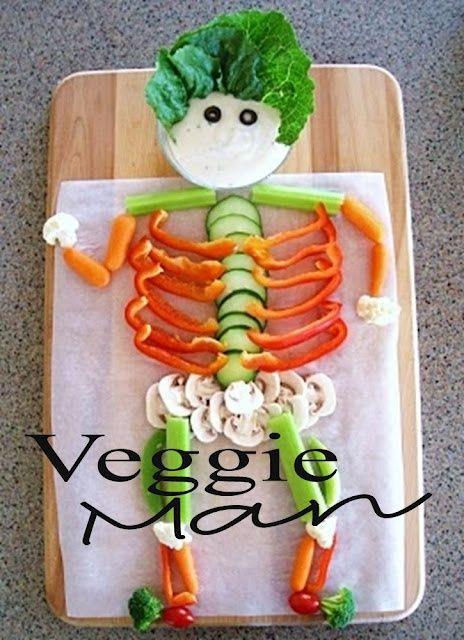 fun party foods mlp710: Holiday, Ideas, Recipe, Food, Skeletons, Veggies, Veggie Skeleton, Kid, Halloween