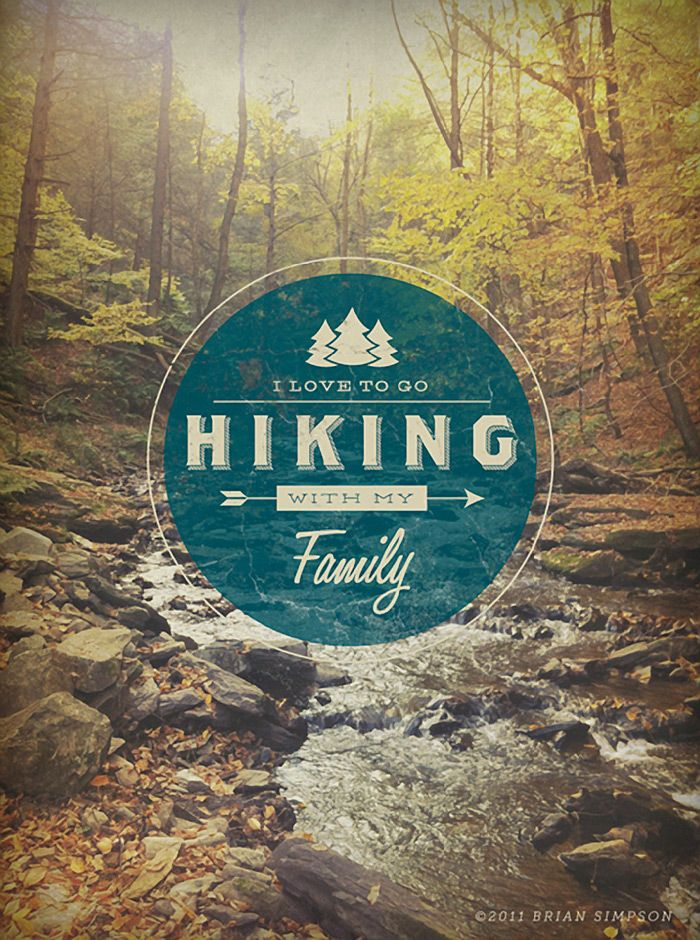 {i love to go hiking with my family} by brian simpson | http://dribbble.com/briansimpson