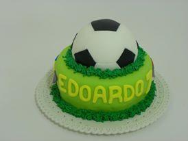 torta pasta di zucchero tema calcio