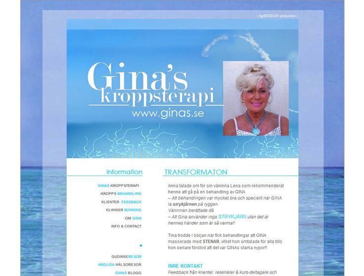 Case | Website - HTML | ☆ www.Ginas.se ☆