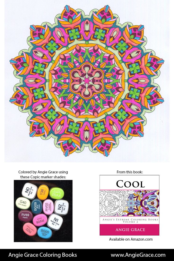 Book color palette - Angie Grace Coloring Books Colored By Angie With Copic Sketch Markers Color Palette Colour Schemes Shade List