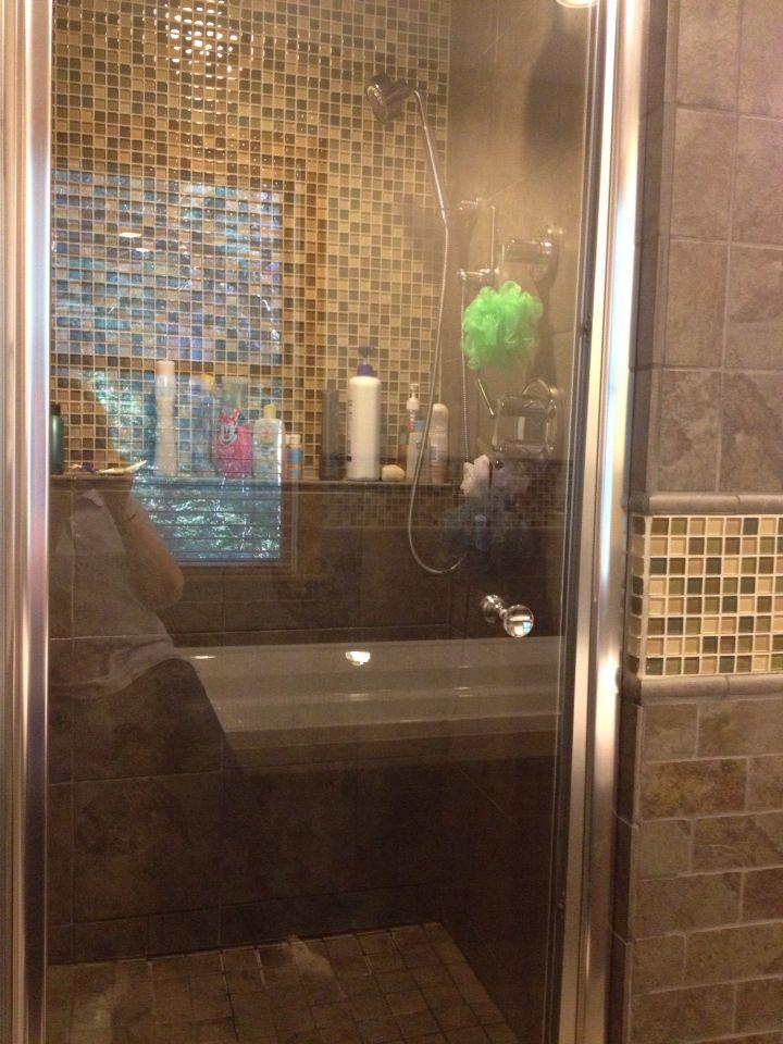 Inviting shower.