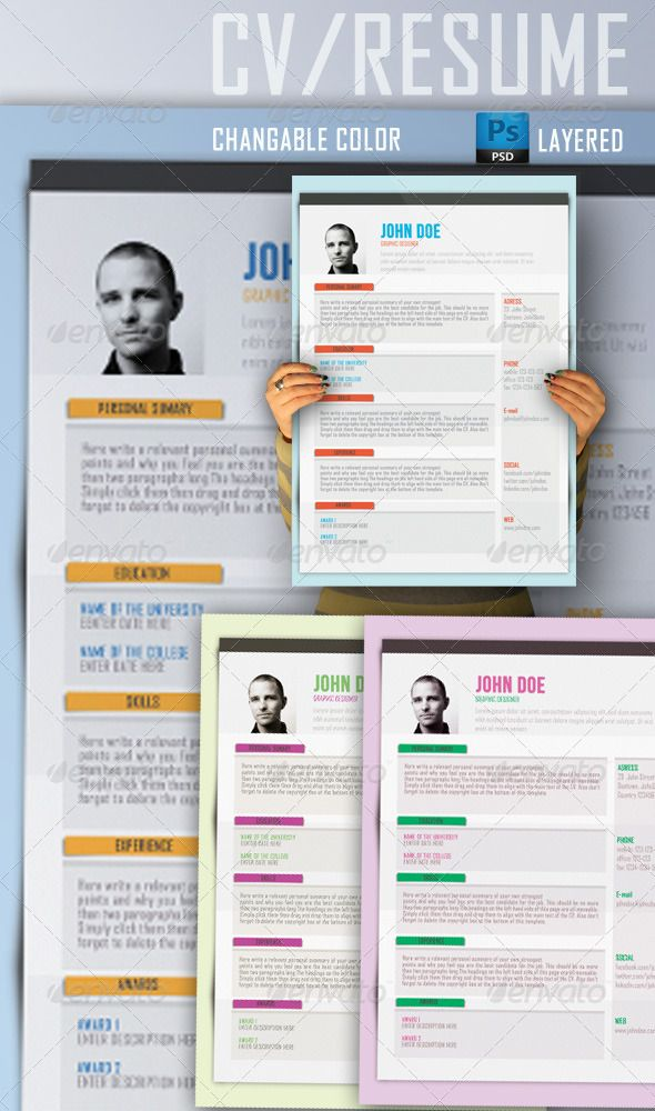 50 best Resume Templates images on Pinterest Resume ideas - resume templates that stand out