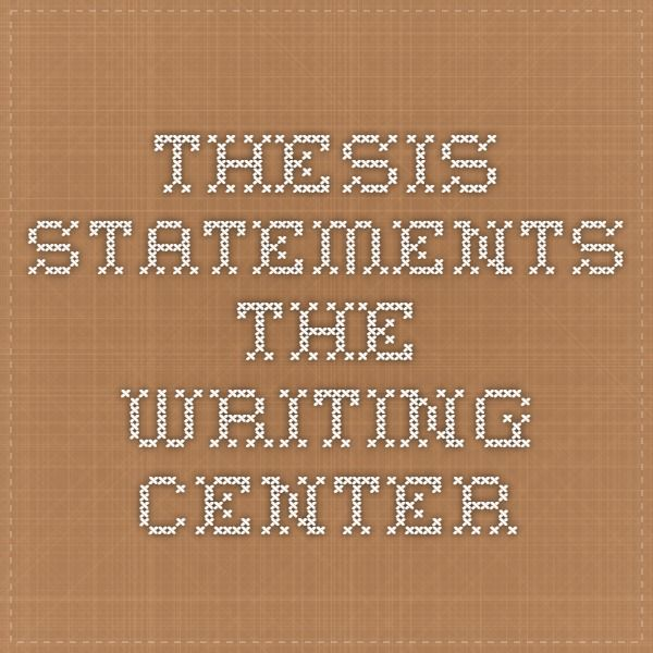 Thesis argumentative writing