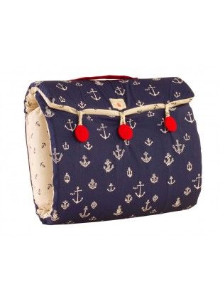 Ahoy Nautical Bed in Bag Every new mothers best friend. 100% cotton removable and washable cover. Water proof inner lining. Light & easy to carry. Have a bed ready for your newborn baby anytime night or day, at home or outside. For babies upto 6 months