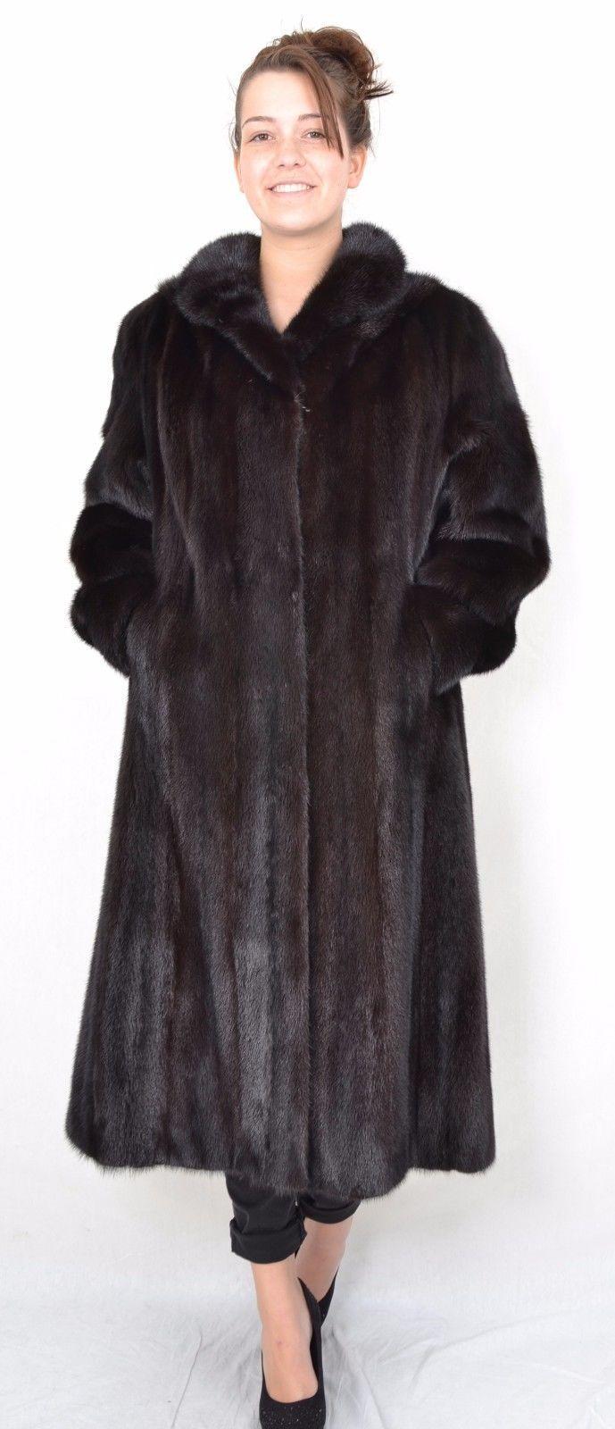 US996 fashionable Mink Fur Coat Jacket FULL LENGTH ÑÑÐÐ Mex ÐÐÑкРNerzmantel XL