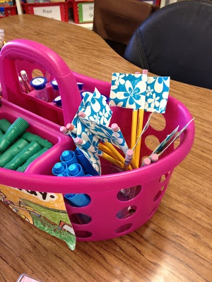 duct tape flags to keep track of pencils - from Little Miss Organized