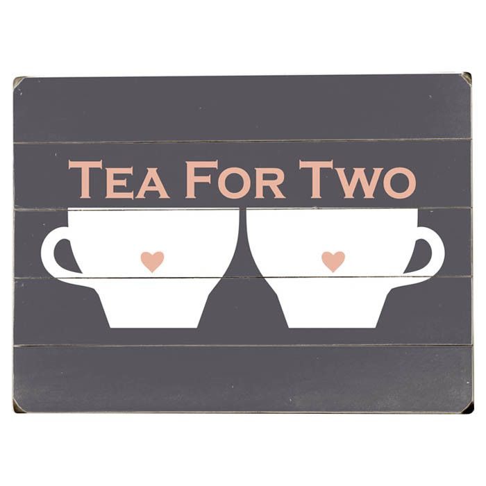 Tea For Two Wall Decor//