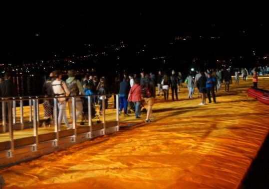"""And for the last weekend of the """"Floating Piers"""" hundreds of thousands visitors more are expected on Lake Iseo between Bergamo and Brescia. The installation will be closed on 3 July at midnight."""