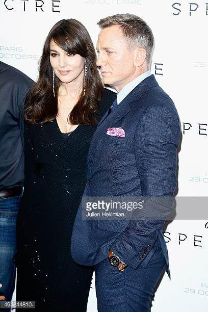 Actors Monica Bellucci and Daniel Craig attend '007 Spectre' Paris Premiere at Le Grand Rex on October 29 2015 in Paris France