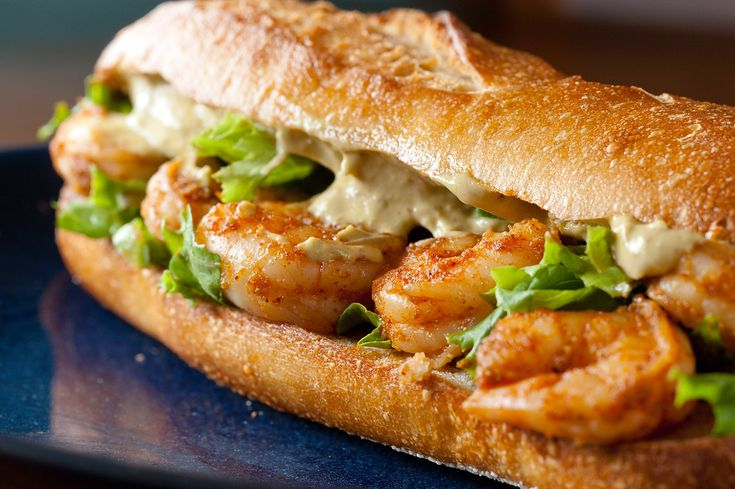 Spicy Shrimp Sandwich with Chipotle Avocado Mayonnaise