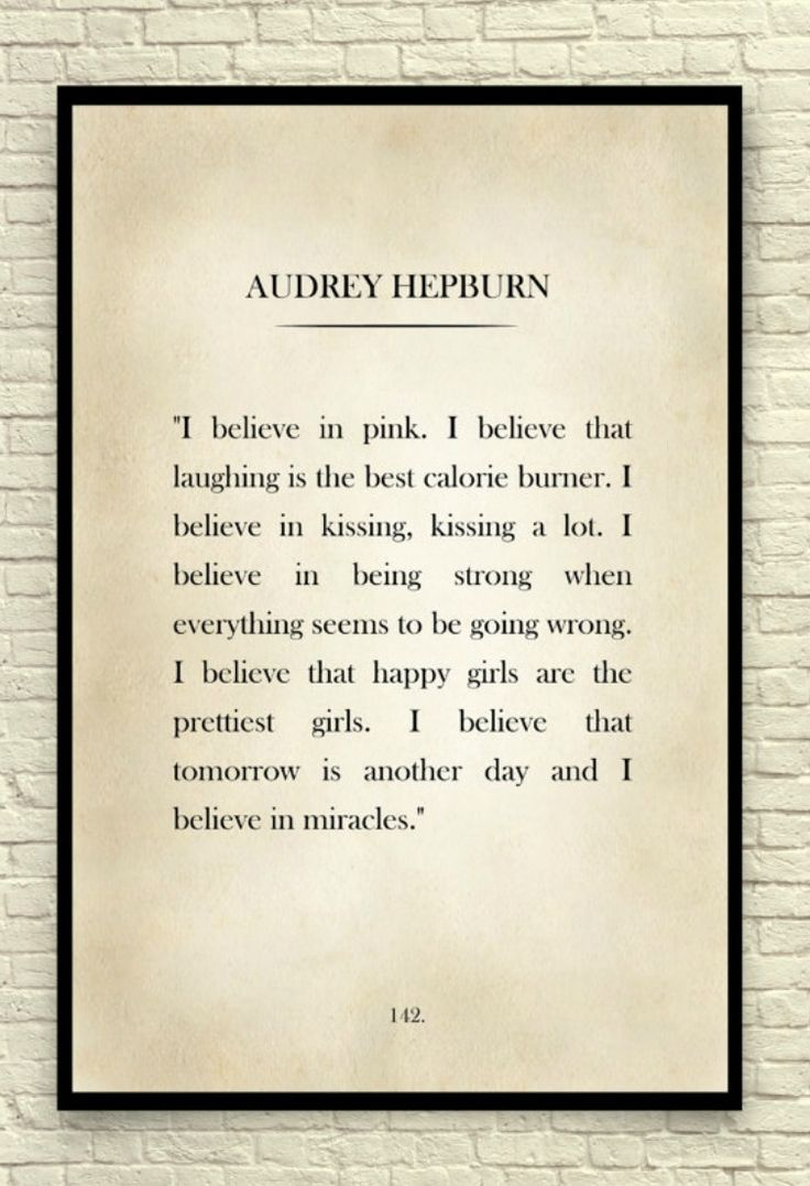 I love this quote from Audrey Hepburn.  #WallArt #decor #celebrities #affiliate