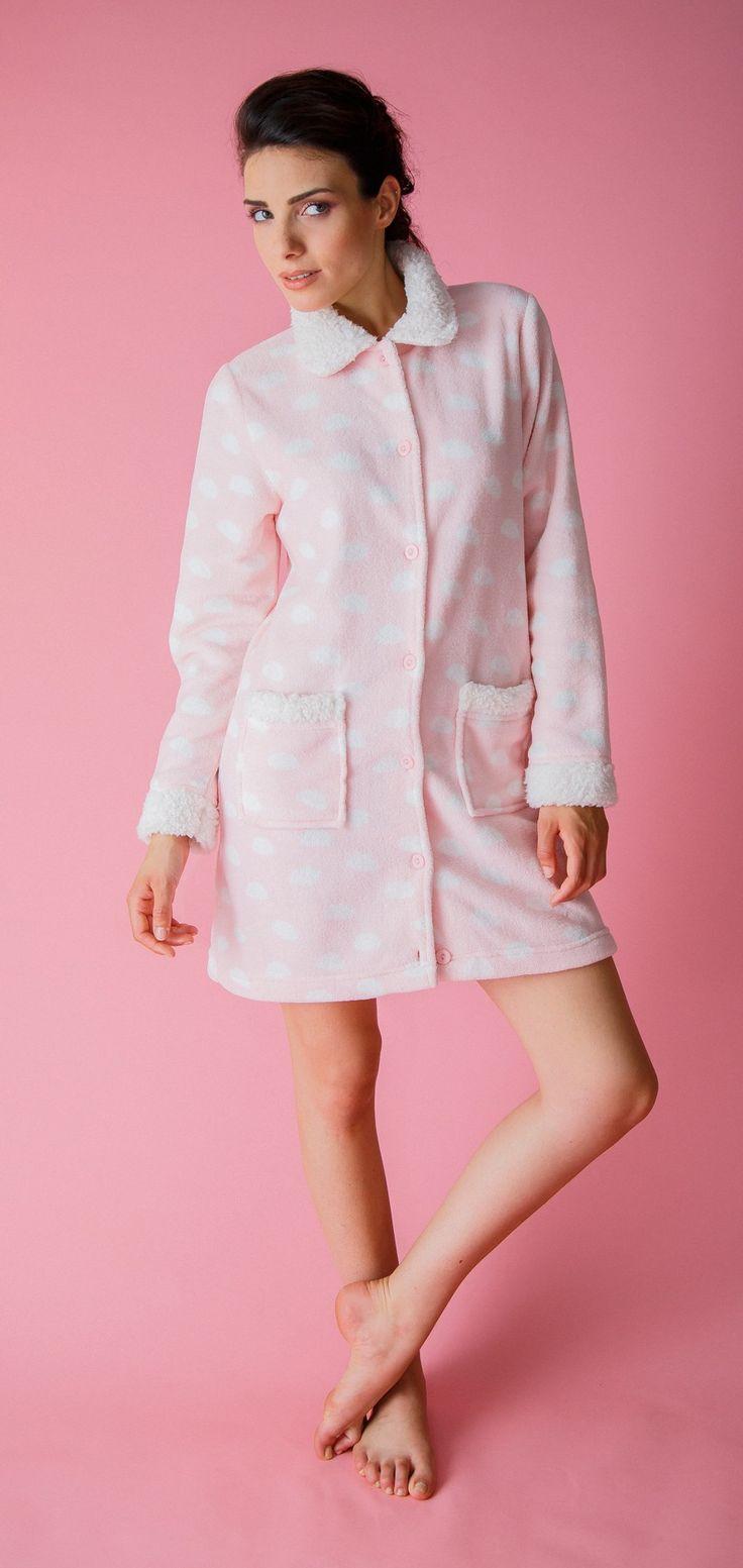 Vestaglia da donna 18 in pile tipo coral fleece Collezione Autunno Inverno Pigiamiamoci #caldo #morbido #rosaconfetto #pink #Pigiamiamoci