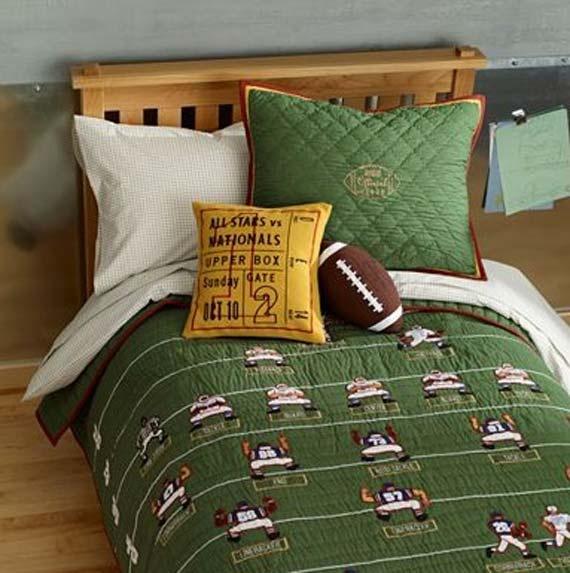How nice for a football themed room!