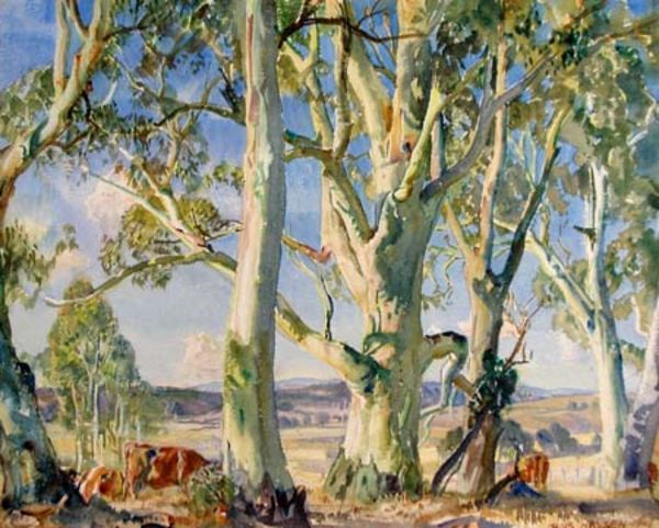 Hans Heysen - On The Edge Of The Bush