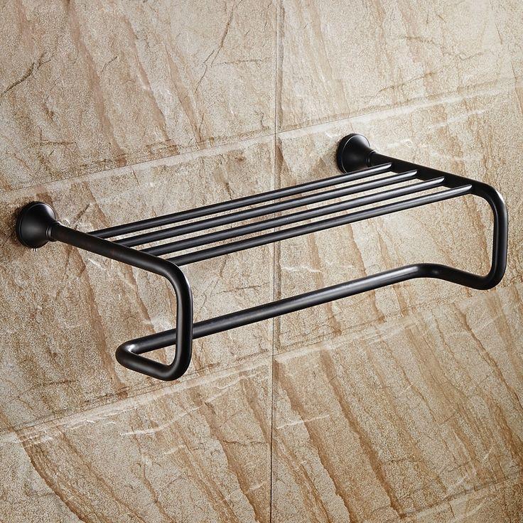 Achetez (Entrepôt UE) Style européen Accessoires de salle de bain en cuivre porte-serviettes noir rétro avec le Meilleur Prix et le Meilleur Service!