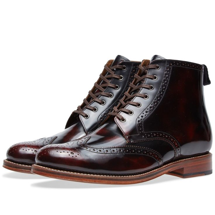 Grenson Sharp Brogue Boot (Burgundy)