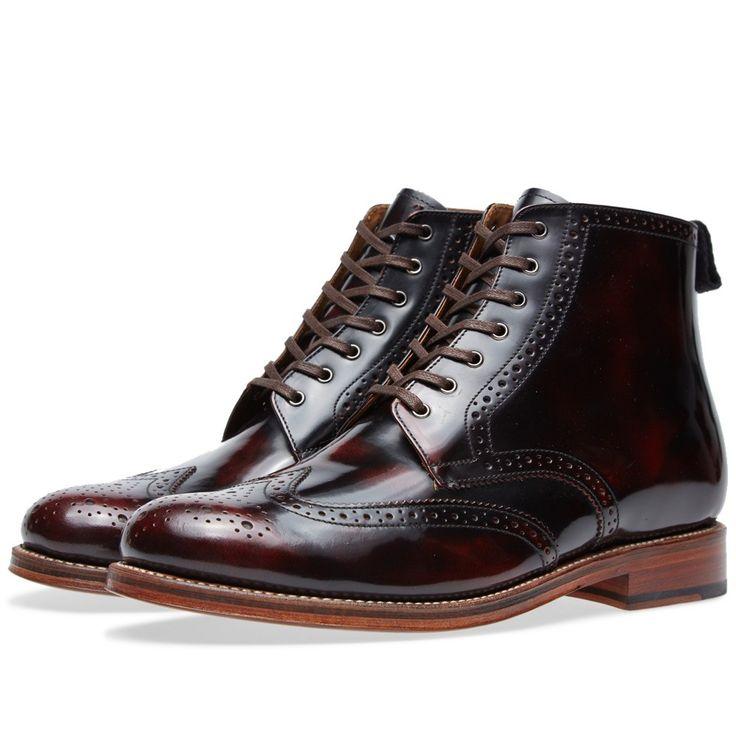 Grenson Sharp Brogue Boot (Burgundy)