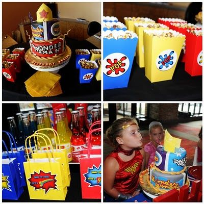 Wonder Woman Party: This site includes lots of great ideas that could be used for any super hero themed party.