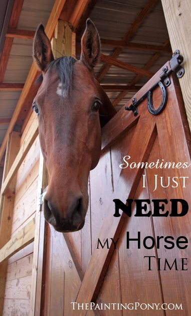 Sometimes I just need my horse time. Equestrian style and equestrian problems.
