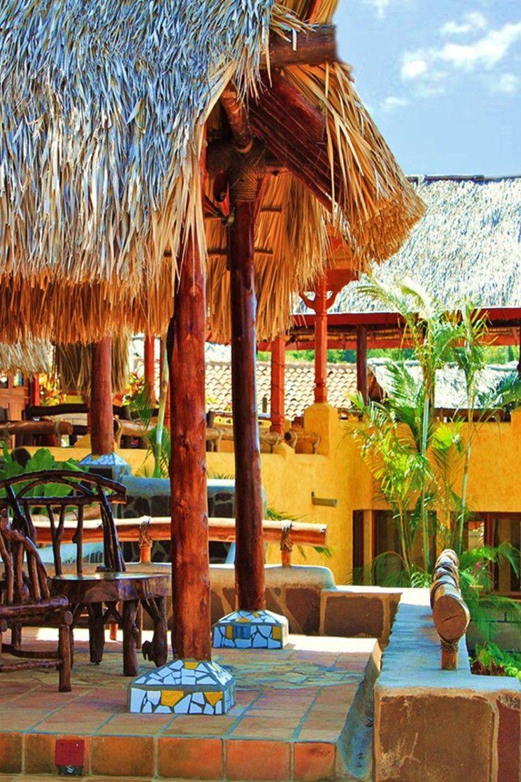 Adults-only eco retreat, Hacienda Puerta de Cielo, has pampering spa services, tropical decor and views of Masaya Lagoon and Masaya Volcano. #Jetsetter