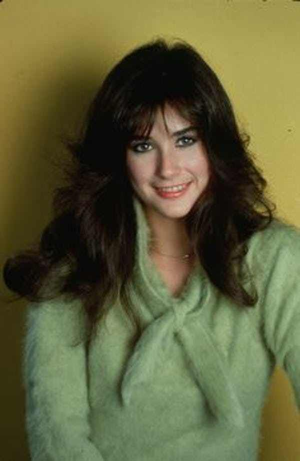Young Demi Moore in a Green Wo... is listed (or ranked) 2 on the list 25 Pictures of Young Demi Moore