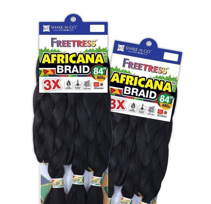 """Freetress 100% Kanekalon Braid 3x Africana Braid 84"""""""