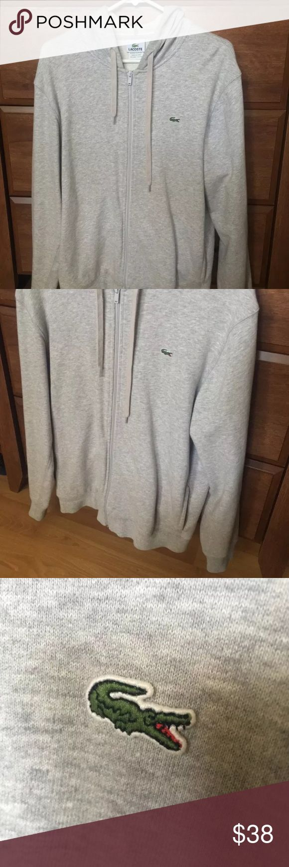 *CHEAP* Lacoste Grey Hoodie Size 5 (Medium) Lacoste gray hoodie size 5 medium. This is a Regular fit hoodie that normally retails for $75+. It has only been worn 3 times and comes from a smoke free home. Great hoodie for lounging around or a nice night out on the town. No holes, stains, any imperfections whatsoever. Cheap alternative to polo Ralph Lauren and other hoodies. Lacoste Shirts Sweatshirts & Hoodies