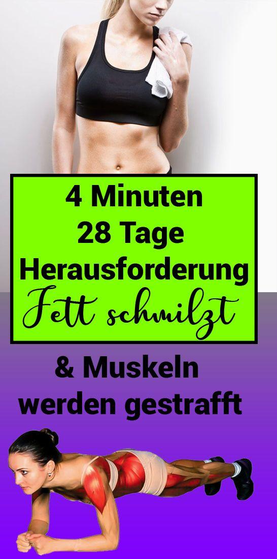 4 Minuten – 28 Tage Herausforderung: Fettschmelzen und Muskeln werden gestrafft   – Gesundheit und fitness