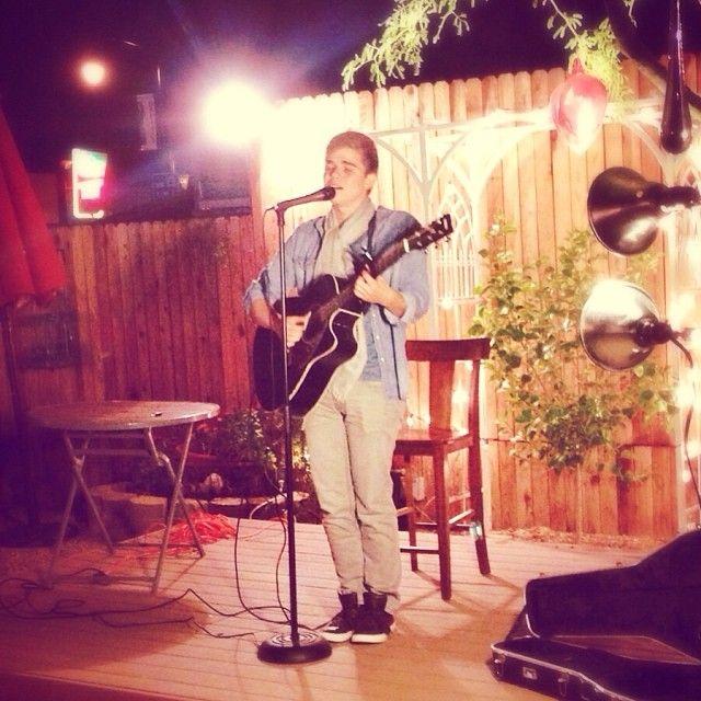 Josh Metzler performing at Bergies in #GilbertAZ by @Bergies Coffee via Instagram.