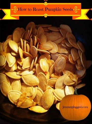 Blog post at Jenn Unplugged : //  //    How to Roast Pumpkin Seeds It's that time of year! Desserts, pies, jumping in piles of leaves, recipes and of course, pumpk[..]