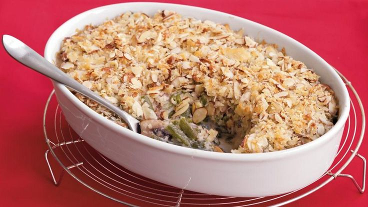 Treat your family to a hearty casserole dinner that features Green Giant® Valley Fresh Steamers® green beans, mushrooms and Progresso® bread crumbs – ready in an hour.