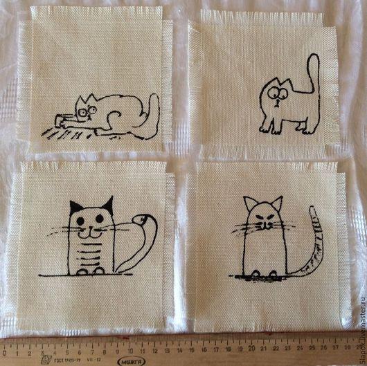 Аксессуары для кошек, ручной работы. Ярмарка Мастеров - ручная работа. Купить Салфетка. Handmade. Белый, подставка под тарелку