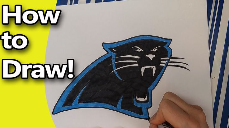 Is the Carolina Panther's your NFL team? Well good news! They're going to the Superbowl and you can draw their logo to decorate your cake, your clothes or yo...