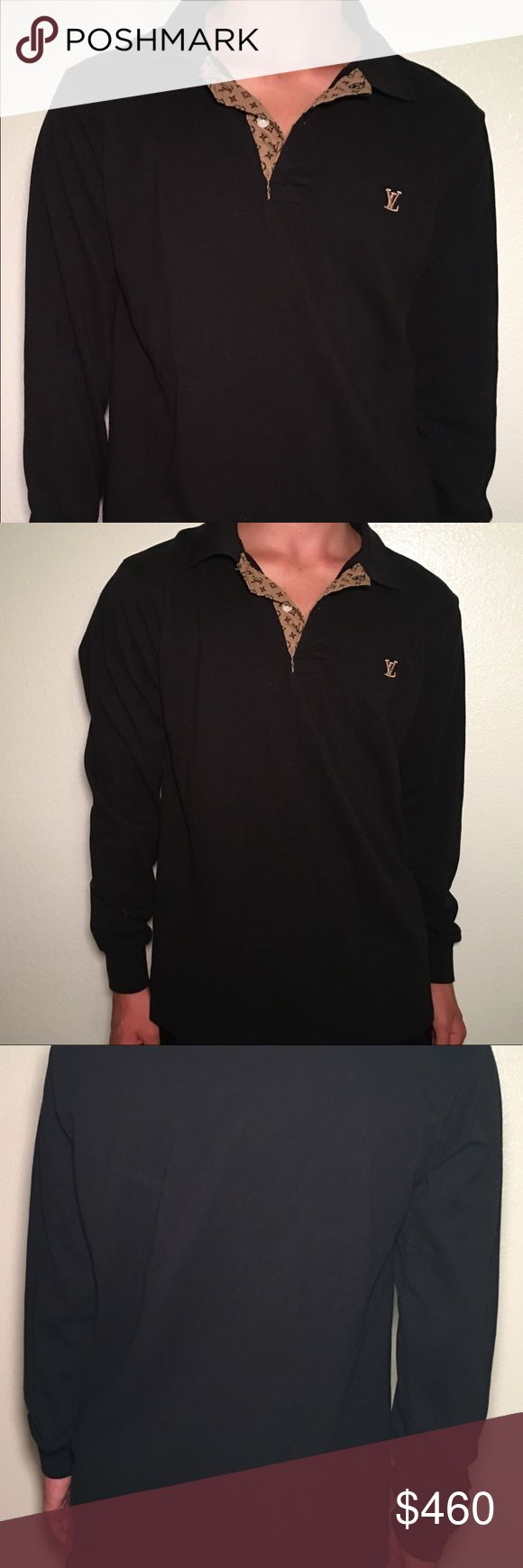 🇮🇹NWOT LOUIS VUITTON LONG SLEEVES POLO NWOT 💯% AUTHENTIC LOUIS VUITTON LONG SLEEVES POLO   A casual piece with a sophisticated twist, this long-sleeved polo shirt is crafted from 💯% cotton. Made in Italy 🇮🇹 Louis Vuitton Shirts Polos