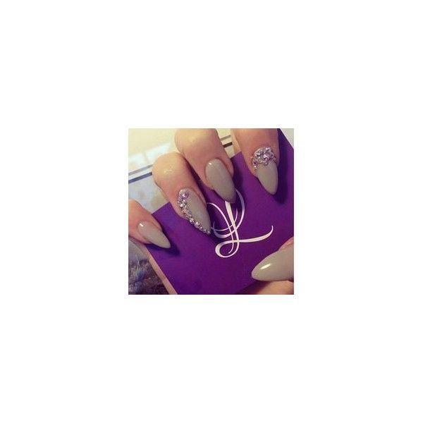 Cute Fake Nail Designs ❤ liked on Polyvore featuring nail