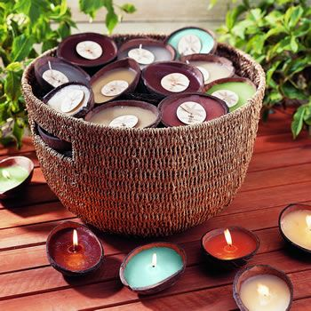 Coconut candles.