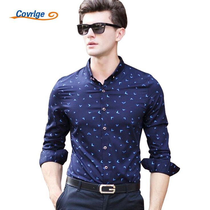 ==> [Free Shipping] Buy Best Covrlge Men Long Sleeve Shirt 2017 Spring New Men's Print Dress Shirt Fashion Luxury Male Business Shirts Brand Clothes MCL033 Online with LOWEST Price | 32789430341