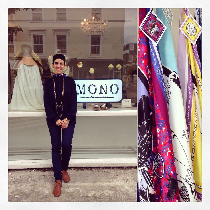 Grecian Chic scarf collection at MONO Pop Up Store, Notting Hill, London, UK