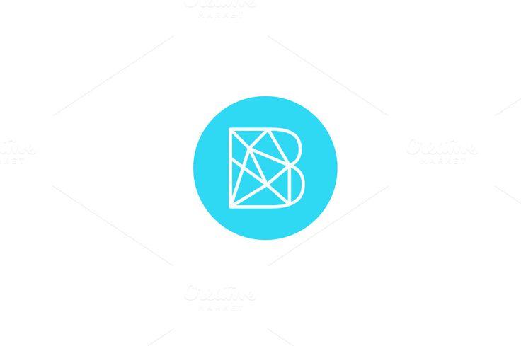 Simple line letter B logotype ~ Logo Templates on Creative Market