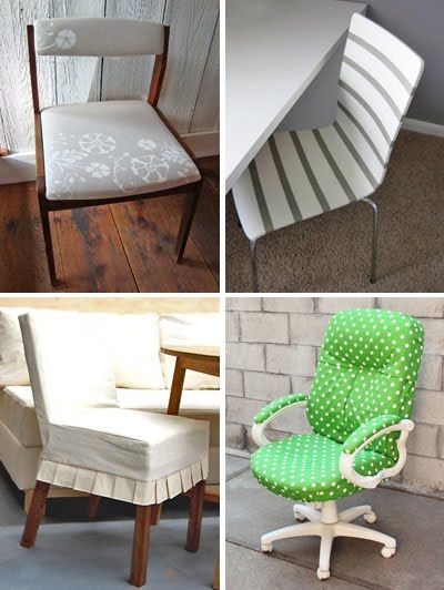 DIY chair makeover tutorials | How About New Cover for Office Chair --- maybe same fabric on picture frame or under glass table top to MATCH!!