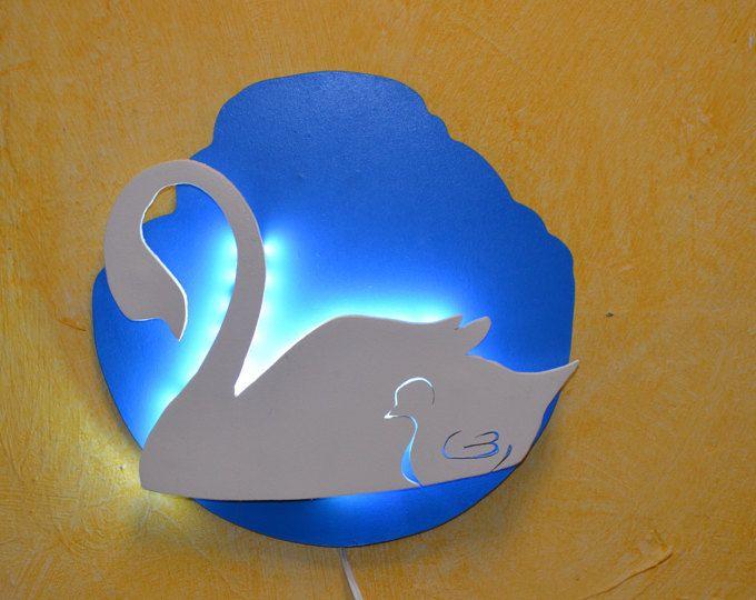 Lámpara quitamiedos para bebés, cisne. 27 cm