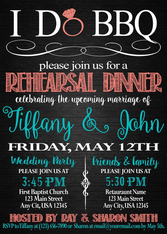 I Do BBQ Rehearsal Dinner Invitation by SweetTeaSpecialties