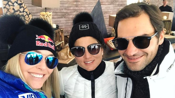 Two of the most successful athletes in history arrived on the slopes of St. Moritz -- ski superstar Lindsey Vonn and tennis legend Roger Federer.