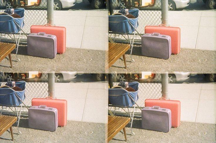 Pastel Suitcases. Brooklyn Flea Market, NYC. Lomo Pop Cam.