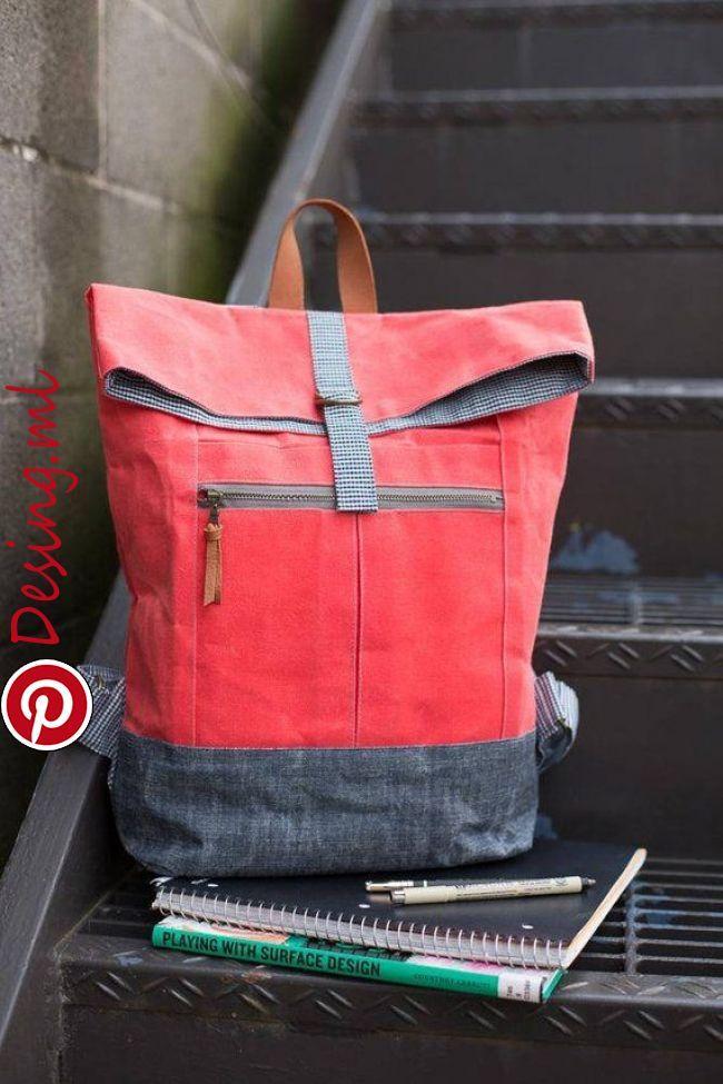 Eine nützliche und Spaß Rucksack zu machen! Es ist ideal für jeden Ausflug, wo Sie die Hände frei sein müssen! Foldover oben und Verschluss ha…
