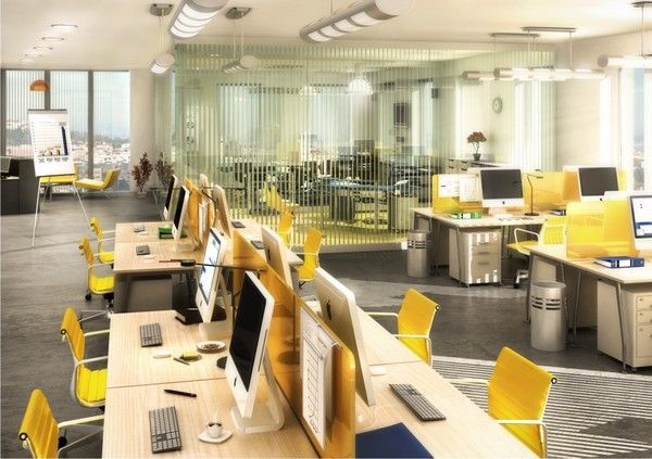 Open office plan with bright atmosphere! #open#office#plan